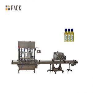 Tappatrice per riempimento bottiglie con smalto gel automatico a 2 ugelli