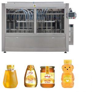 Linea di etichettatrici per tappatura di riempimento liquido ad alta viscosità ad alta viscosità, tipo pistone servo